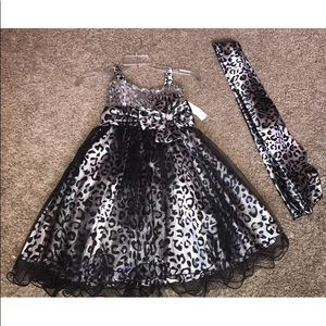 JoyKids Dresses - 8 Animal Print  Special Occasion Formal Dress NWT